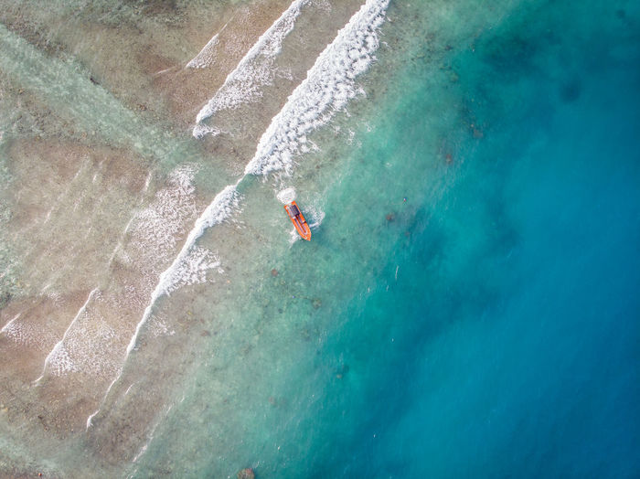ASIA Perhentian Island Wave Aerial View Beauty In Nature Blue Day High Angle View Holiday Leisure Activity Malaysia Nature Ocean Outdoors Sea Sport Swimming Trip Turquoise Colored Vacations Water