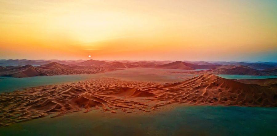 Desert Desert Beauty Deserts Around The World Empty Quarter Desert DJI Mavic Pro Aerial Photography Sunset_collection Golden Hour Breathtaking Beauty In Nature Visit Oman