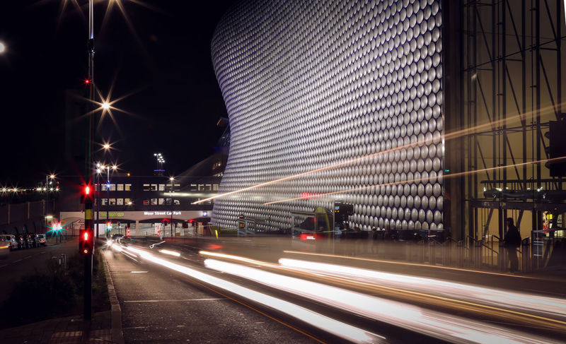 City Motion - Blurred Motion City Life Illuminated Night On The Move Speed Transportation Birmingham UK Bullring Long Exposure Selfridges & Co Traffic Lights Selfridgesbirmingham Need For Speed