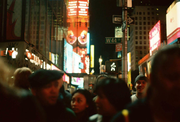City City Life City Street Crowd Large Group Of People Night Pedestrian Crossing People Times Square NYC Traffic Lights Overnight Success