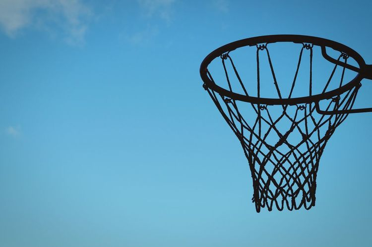 Sweden Hagalund Solna Showcase October 2016 Oktober Niklas Clear Sky Blue Low Angle View Basketball Hoop Tranquility Scenics Outdoors BYOPaper! The Week On EyeEm Summer Sports