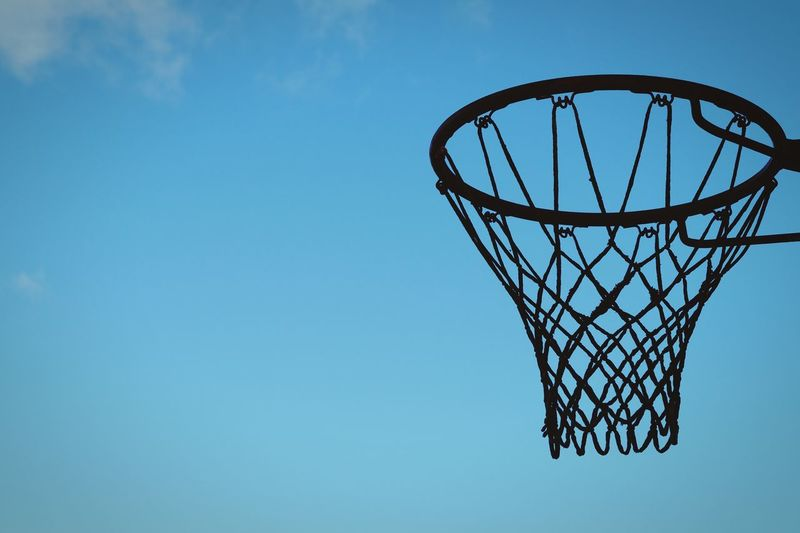 Sweden Hagalund Solna Showcase October 2016 Oktober Niklas Clear Sky Blue Low Angle View Basketball Hoop Tranquility Scenics Outdoors BYOPaper! The Week On EyeEm Summer Sports My Best Photo