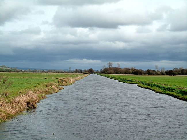 Landscape Storm Cloud Cloud - Sky Agriculture Nature Tree Somerset Levels Uk Riverbank Nature On Your Doorstep Nature Beauty In Nature