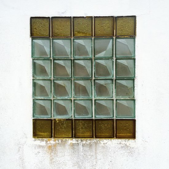Glass - Material Glass Brick Glass Elements Window Bus Stop Bus Station Full Frame Built Structure No People white wall Brandenburg village Architecture 70s Architecture 80s Architecture Squares Geometric Shape Pattern