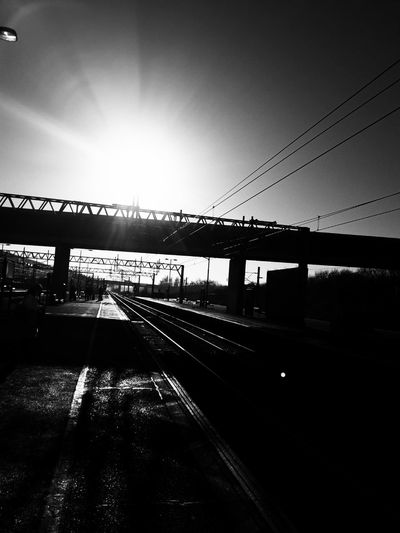 Bridge - Man Made Structure Transportation Connection Built Structure No People City Sky Architecture Outdoors Day Train Station Train Tracks Trainspotting Train Station Platform Sunlight Silhouette An Eye For Travel