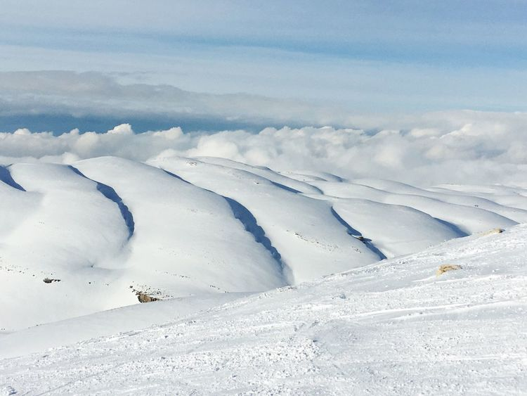 Snow Winter Cold Temperature Beauty In Nature Nature Sky Cloud - Sky Scenics No People Tranquil Scene Landscape Skiing
