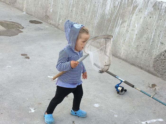 Gone Fishing Catch A Fish Childhood Leisure Activity Outdoors Real People