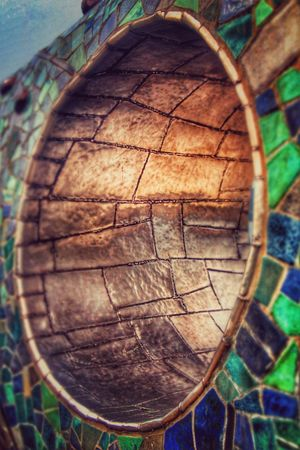 Artistic Travel Photography Walk Czech Republic Travelphotography Lipno Art ArtWork Mosaic Hole In The Wall