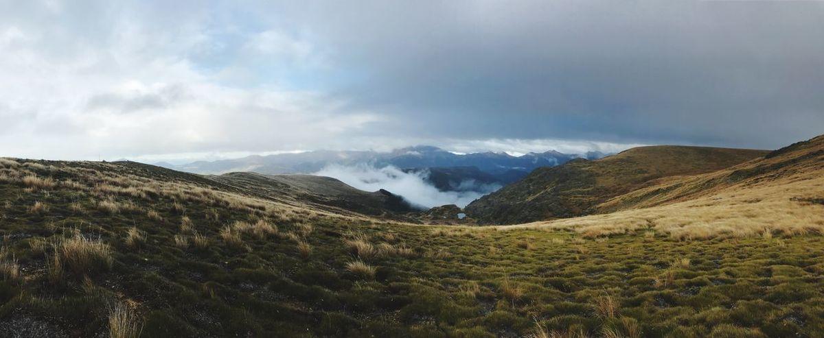 Nature New Zealand Scenery Mountain Sky Landscape
