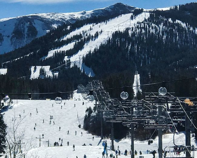 Busy ski day at Breckenridge Snow Cold Temperature Winter Mountain Nature Outdoors Frozen Day Beauty In Nature Snowcapped Mountain Scenics Landscape Tree Mountain Range Large Group Of People Ski Lift People