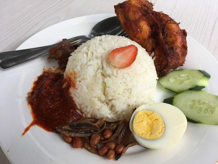 Nasi lemak with
