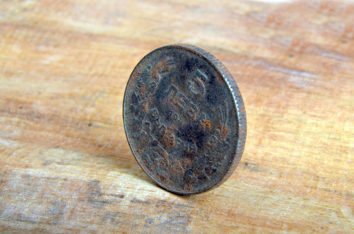 old coin Levitation Sofia Bulgaria Bulgaria Bulgarian Coin Money Old Rusty Rusty Coins