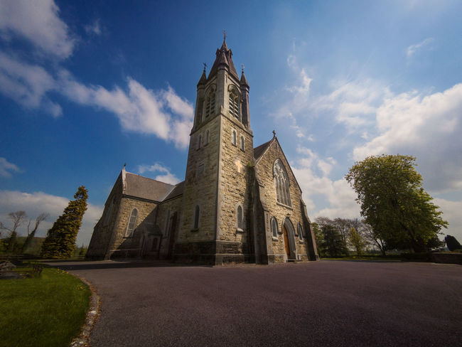 Irish church // See fast tutorial here: https://www.youtube.com/watch?v=CiKAv4doBjw Architecture Building Exterior Built Structure Church Cloud - Sky Day Go Pro Go Pro Photography Gopro Goprohero5 Goprohero5black History Ireland Irish Karma Grip Nature No People Outdoors Photoshop Place Of Worship Religion Sky Spirituality Travel Destinations Tree