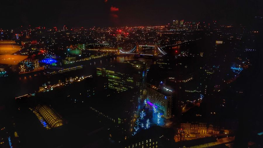 View From The Shard, London Night Illuminated City Cityscape Aerial View No People Outdoors Futuristic Nightlife Urban Skyline