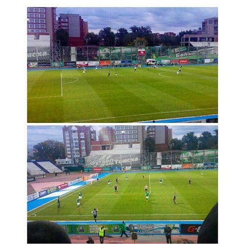 Матч Томск-Тосно..Tomsk футбол ребятаудачи Дождь