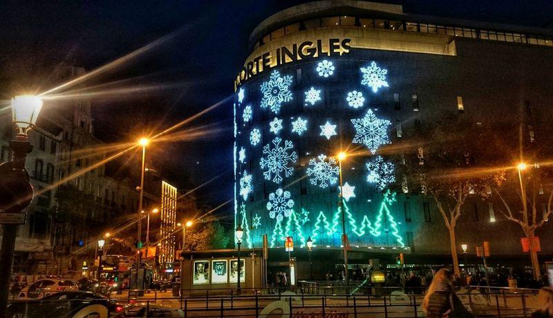 Barcelona. Christmas 2018 Barcelona SPAIN CorteInglés Christmas Lights 2018 New Year