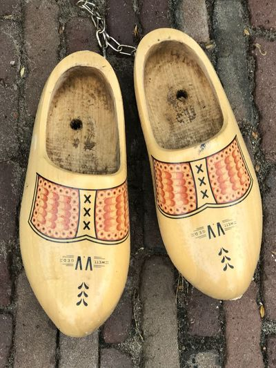Shoe Wooden Shoes No People Close-up