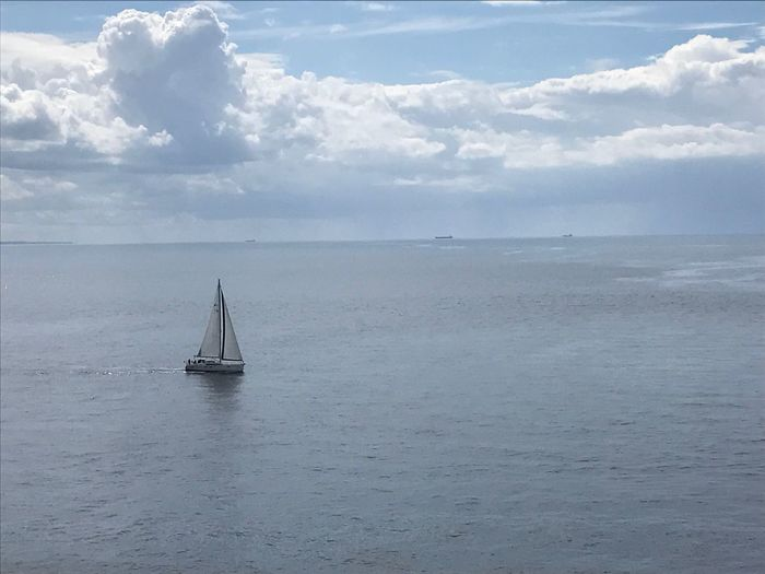 Sea Water Sky Horizon Over Water Cloud - Sky Scenics Tranquility Nature Beauty In Nature Tranquil Scene Day Outdoors Waterfront Nautical Vessel Transportation No People Sailing Sailboat
