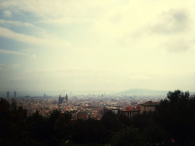 Skyline Barcelona Catalunya Walking Around
