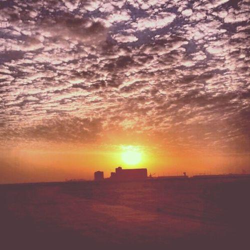 Goodmorning Sun Sunrise Abudhabi uae city clouds beautiful love sky