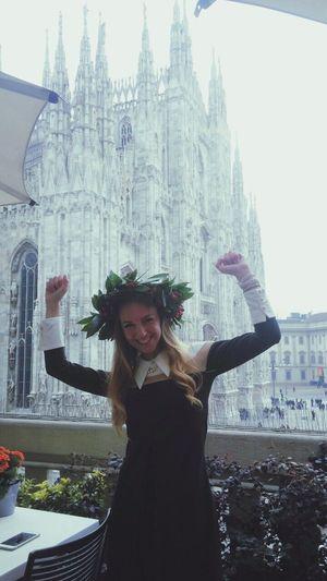 Ho conquistato il duomo Laurea Degree Graduation Graduated Lawschool Milano Duomo