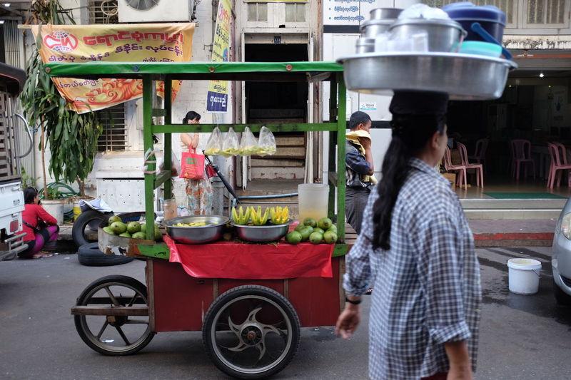 Street Fruit Vendor in Yangon. Burmese Fruit Vendor FujiX100T Myanmar Rangoon Southeastasia Street Food Worldwide Street Vendor Streetphotography X100t Yangon Adventures In The City