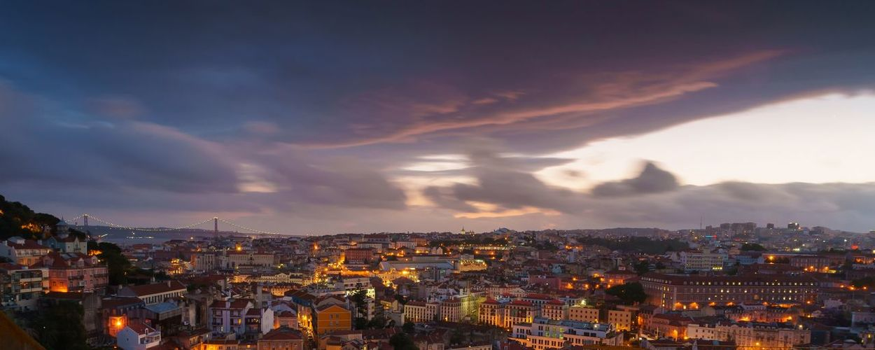 Sunset in Lisbon. Cityscape City Lisbon - Portugal Sunset EyeEm Selects Architecture Building Exterior Cityscape Built Structure Building City Life Cloud - Sky High Angle View