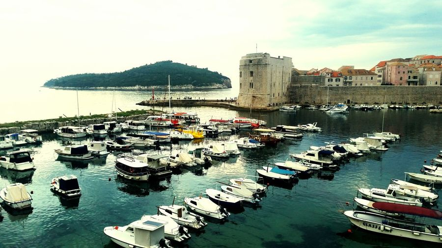 Port Dubrovnik - Croatia❤ Boats⛵️ Old City EyeEmNewHere No People The Week On EyeEm Reflection Island Beautiful Place ♥ Water City Walls