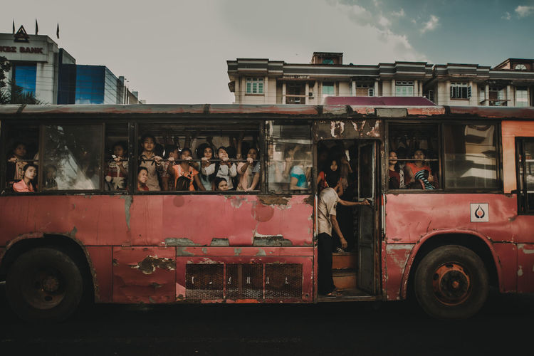 street myanmar Mode Of Transportation Transportation Land Vehicle Motor Vehicle Car Outdoors Streetphotography Photojournalism Day Public Transportation Architecture Building Exterior Travel Sky City Incidental People Built Structure Nature Truck Bus Real People Street The Street Photographer - 2019 EyeEm Awards The Photojournalist - 2019 EyeEm Awards The Traveler - 2019 EyeEm Awards