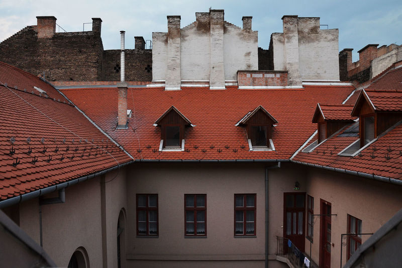 Architecture Budapest Cimney Cloudy Flat Home Lifestyle Rooftop Urban Windows