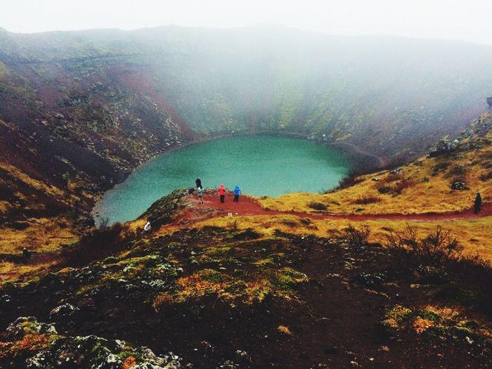 Kerid Iceland Island Vulcano Blue Vulcanolake Kerid Crater