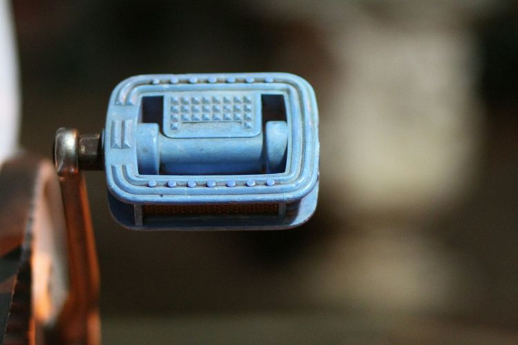 Cropped image of bicycle pedal