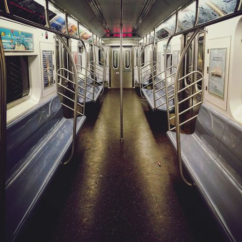 no one. Train Train - Vehicle Empty Empty Train Sadness Loneliness Love No People Indoors  Subway Train Transportation Illuminated first eyeem photo