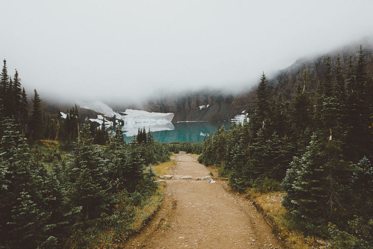 Hike down to