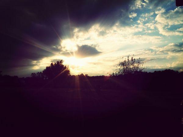 Sun Set Enjoying Life Light Sky