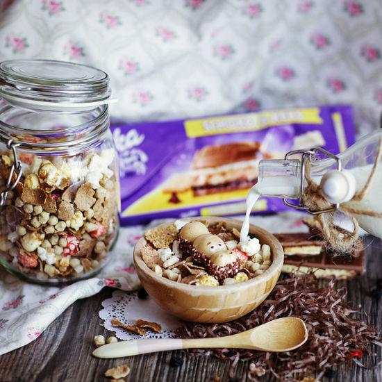 Food Foodporn Foodphotography Cereal Breakfast Morning Milka Happyhippo Kinder Happy Hippo My Favorite Breakfast Moment