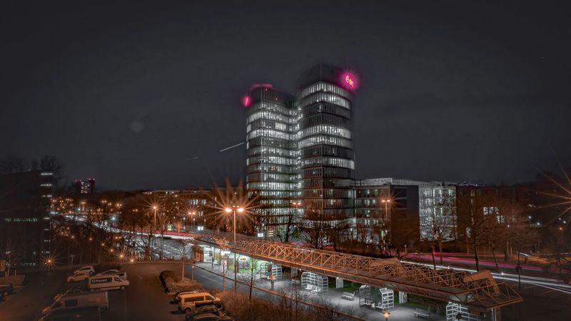 Architecture Building Exterior Illuminated Night City Built Structure Skyscraper Sky Outdoors City Life No People Modern Cityscape
