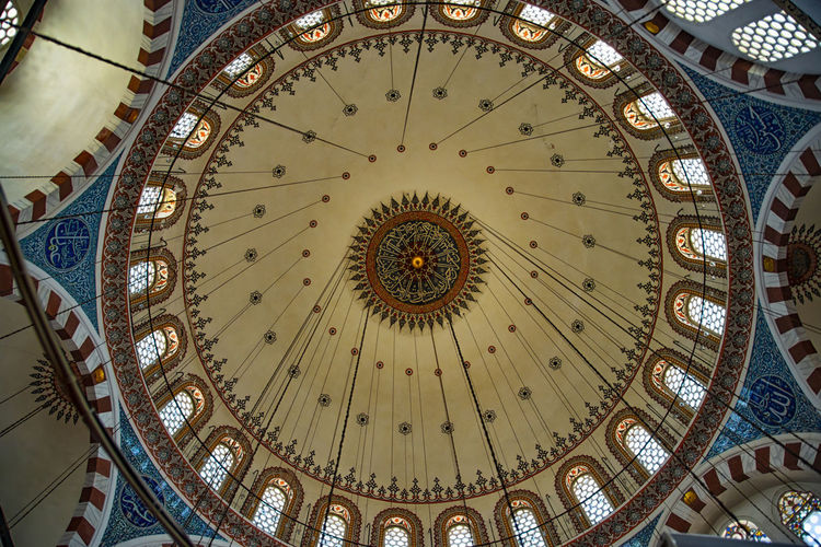 Low angle view of ceiling of dome