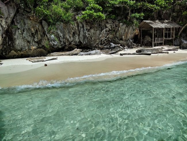 Beach Sea Scenics Beach Sand Beauty In Nature Tranquility Water Travel Photography El Nido, Palawan Puerto Princesa Clear Water