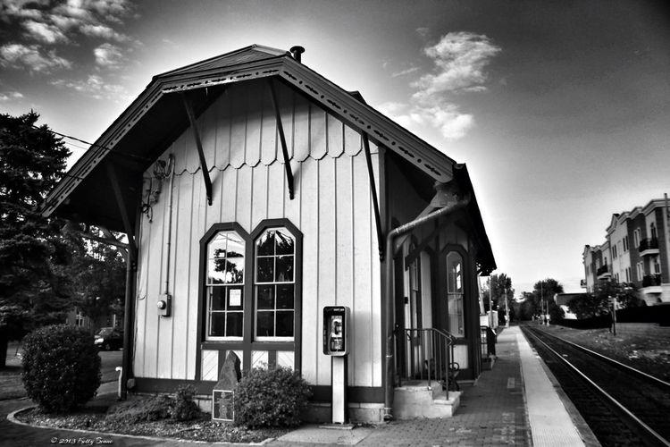 ❤Train Stations Blackandwhite Train Station Monochrome EyeEm New Jersey