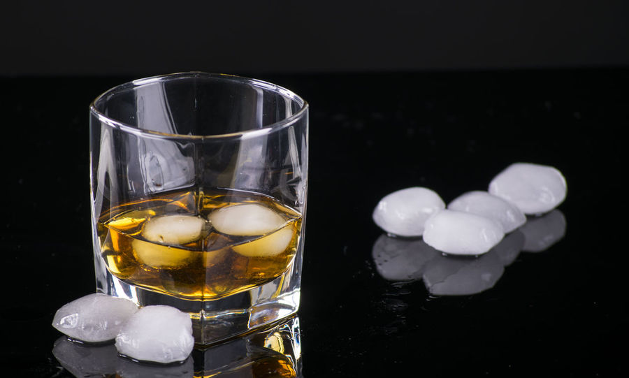 Acohol Cold Drink Cooled Drink Fresh Drink Glass Ice Ice Cubes