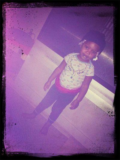 My Chunk Munk Dressed Herself . Mommies Gangsta Princess Lol