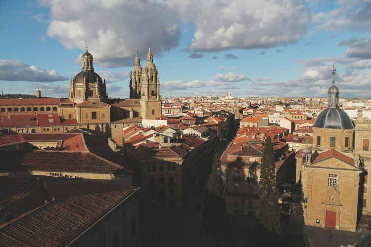 Salamanca SPAIN Light And Shadow EyeEm Best Shots EyeEmBestPics EyeEmBestEdits Canon_photos Cathedral Catedral España Eyeemarchitecture Photography Canon Canonphotography Colors Sight Landscape Exceptional Photographs EyeEm Selects City Sunset Urban Skyline Religion Panoramic Tower Clock Tower Tall Tall - High Bell Tower
