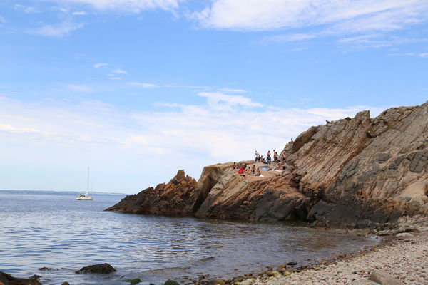 at the rocks by the sea in mölle,sweden Bath Time Beauty In Nature Cloud - Sky Horizon Over Water Idyllic Nature Rock Rock - Object Rock Formation Rocky Rocky Beach Scenics Sea Shore Sky Summer Summertime Sweden Sweden Nature Sweden-mölle Swedenwestcoast Swim Tranquil Scene Tranquility Water