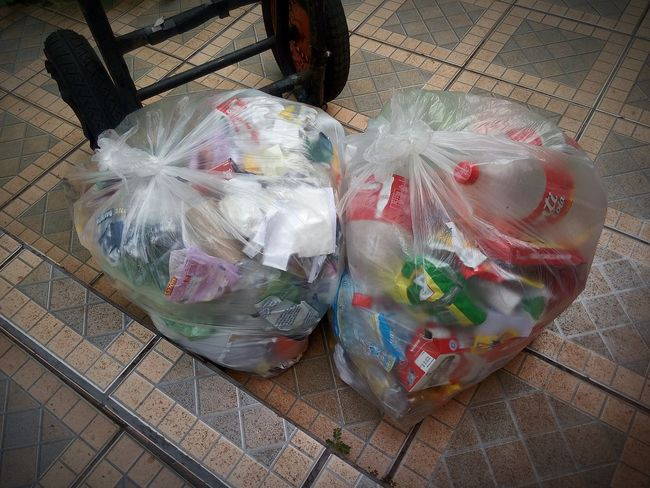High Angle View Close-up Waste Management Tiled Floor Polythene Plastic Bag Crumpled Paper Crumpled Paper Ball Wastepaper Basket Wastepaper Basket Crumpled Paper Ball Garbage Bag Crumpled Crushed Garbage Can Scrap Metal Garbage Bin Garbage Recycling Center Recycling Bin Author Recycling Environmentalist Pollution Mistake Can Drink Can Water Pollution Water Pollution Sustainable Lifestyle End Plastic Pollution