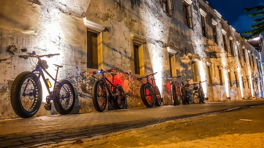fatbike Bike Bike Ride Bicycle No People Day Architecture Built Structure Outdoors Sky