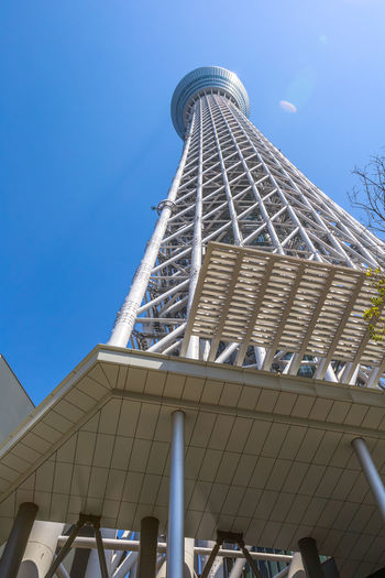 Tokyo Skytree with cherry blossoms in full bloom in Sumida District, Tokyo, Japan. Tokyo Skytree is the tallest tower in the world, broadcasting and observation tower. Asakusa,tokyo,japan Cherry Cherry Blossom Cityscape Hanami Sakura  Japan Japanese  Observatory SkyTree Tower Skyline Skytree Tokyo Tokyo Tokyo,Japan Top Tree Aerial View Architecture Asakusa Building Building Exterior Built Structure City Clear Sky Day Flower Hanami Low Angle View Modern Nature No People Office Building Exterior Outdoors People Sky Skyscraper Skytree Sumida Tall - High Tourism Tower Travel Travel Destinations