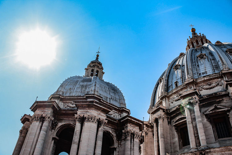 The cupolas of st. peter's basilica in vatican city