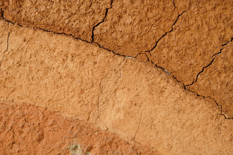 Arid Climate Backgrounds Brown Close-up Cracked Damaged Day Dividing Drought Land Landscape Nature No People Outdoors Pattern Textured  Textured Effect