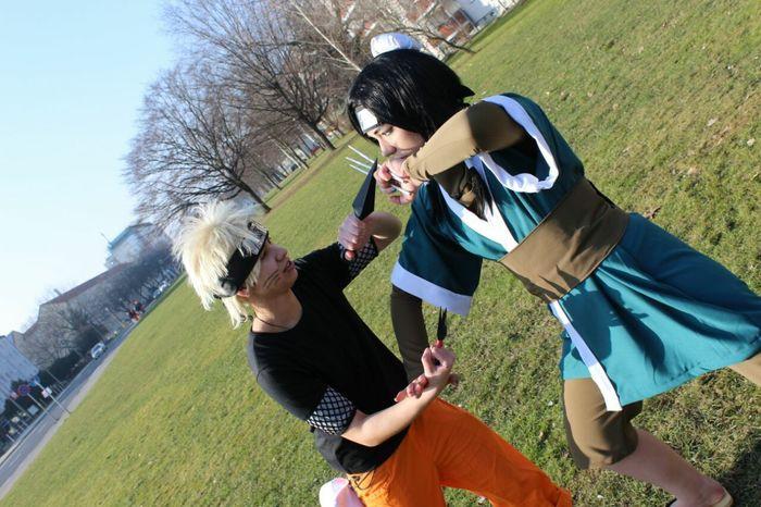 Naruto Naruto Uzumaki Haku Fight Kunai Cosplay Anime me like naruto